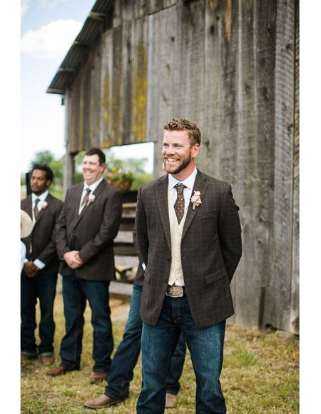 Mens casual groomsmen attire