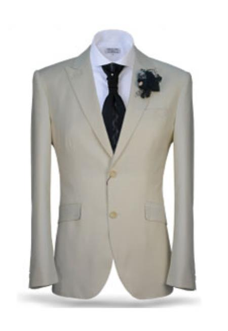 Mens 2 Button Ivory