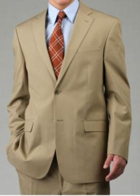Two Button Suit Camel  Khaki