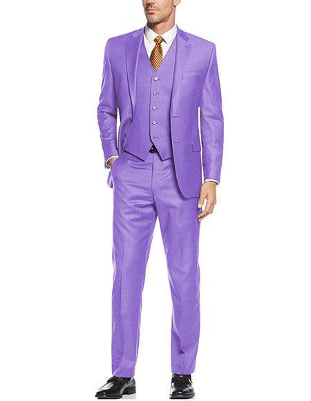 JA758 Mens Suit Vest Lavender