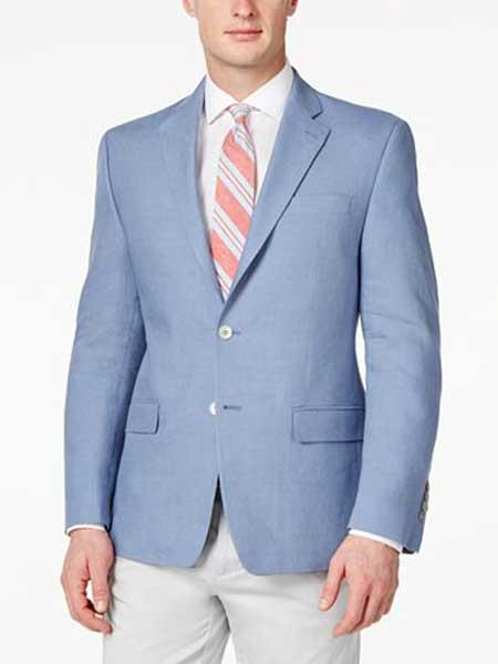 Mens Solid Light Blue