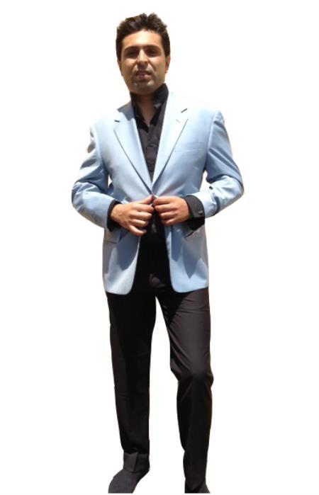 Two Button Blazer Online Sale Light Blue ~ Sky~Baby~Powder Blue