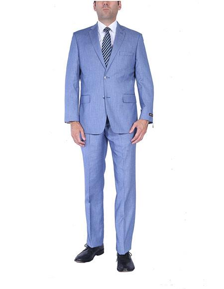Mens Light Blue Two-Piece
