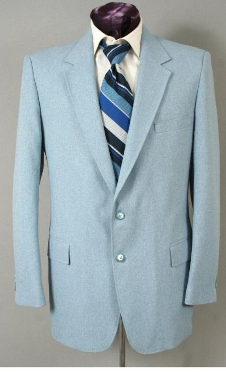 BM8692 Two Button Suit - Light Blue ~ Sky Blue (Baby Blue)