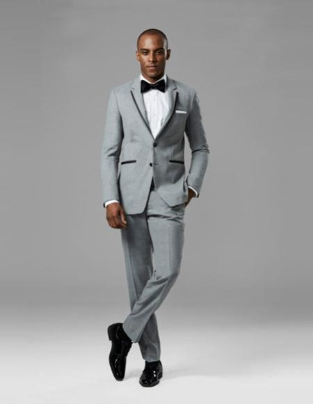 Two Button Light Gray Suit