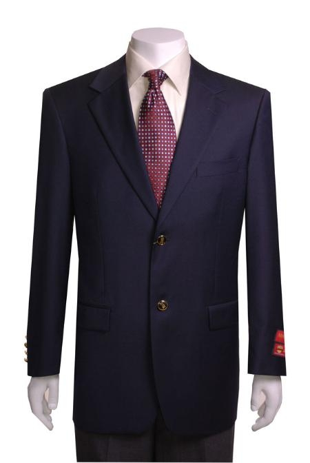 Product# KJ433 2-button Navy Blue Shade Wool FabricJacket/Blazer Online Sale
