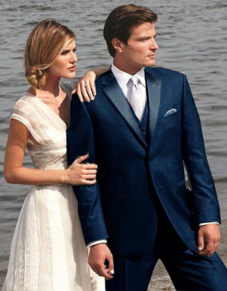 Product# 6G3D Stunning Navy ~ Midnight blue Two Button Tuxedo
