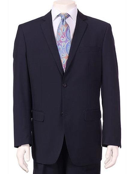 Product# JSM-6135 Men's Vitali Single Breasted Authentic 2 Button Navy Slim Fit Suit