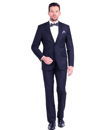 Product# GD1221 Men's Giorgio Fiorelli 2 Button Single Breasted Fully Lined Slim Fit Navy Suit