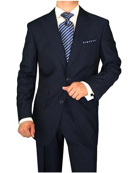 Mens Navy 2 Button