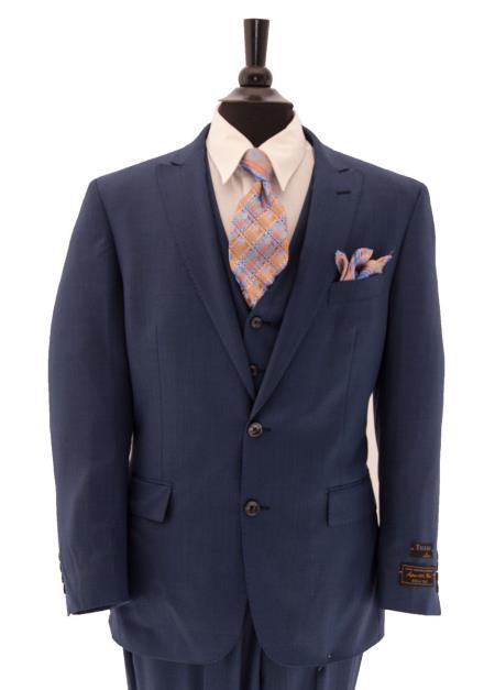 pinstripe Wool Fabric feel poly~rayon Suit w/Gorgeo