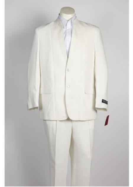 JSM-110 Mens Off White 2 Button Single Breasted Suit
