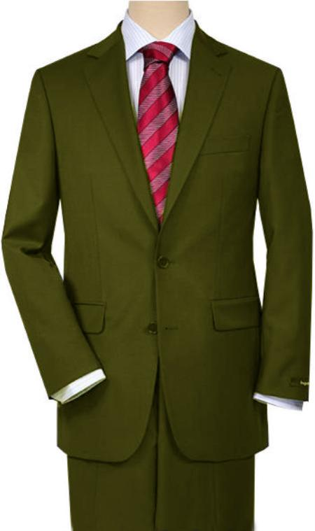 Product# OL39 Olive Green Quality Total Comfort Suit for Men separate online Any Size Jacket & Any Size Pants