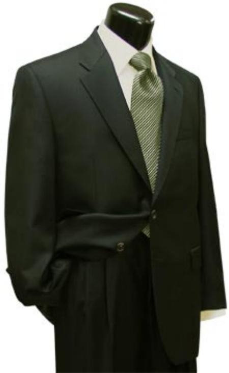Product# LX325i Dark Olive Green (Hunter) 2 Button Style Superior Fabric Wool Fabric Suit for Men