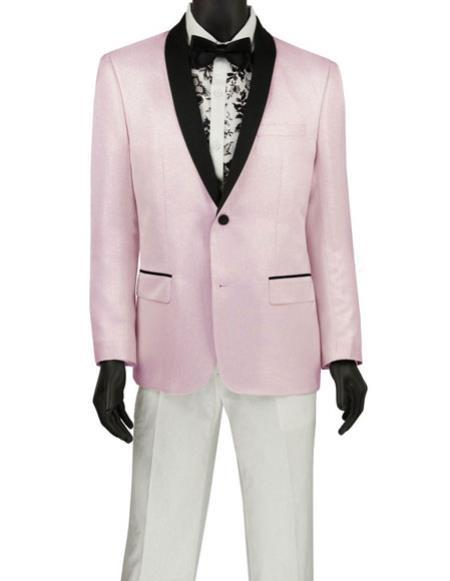 men's Fashion Blazer ~ Sport Coat ~ Tuxedo Pink Tuxedo Dinner Jacket