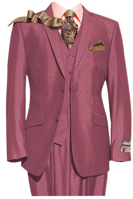 Mens 2 Button Pink