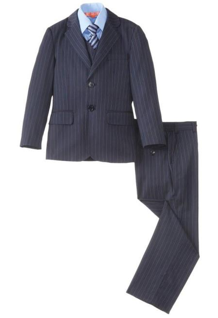 Boys 5 Piece Pinstripe