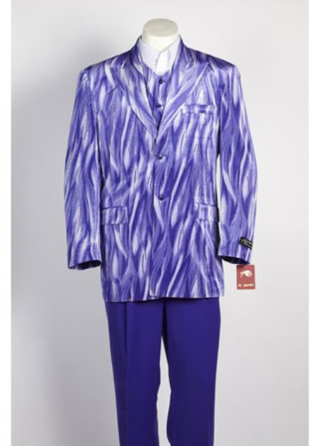 Mens Purple 2 Button