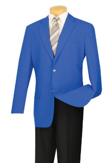 Product# AC-664 Two Button Royal Blue Suit For Men Perfect  pastel color Blazer ~ Suit Jacket Online Sale Sport Coat Jacket With Gold Buttons royal blue pastel color