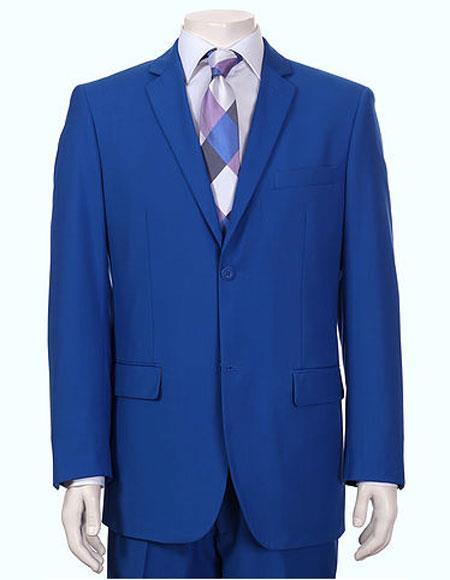 Product# JSM-6143 Men's Vitali Single Breasted Authentic 2 Button Royal Slim Fit Suit