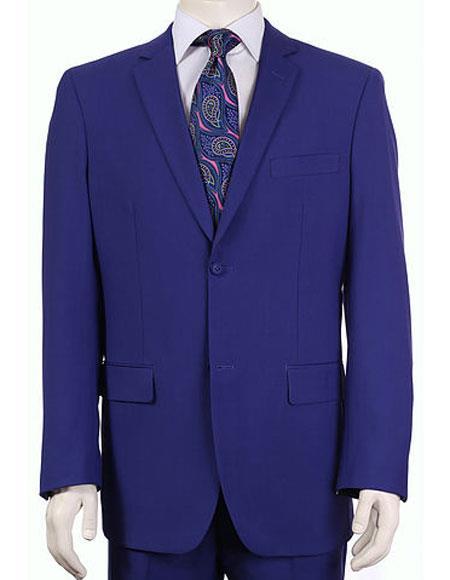 Product# JSM-6139 Men's Vitali Single Breasted Authentic 2 Button Saphire Slim Fit Suit