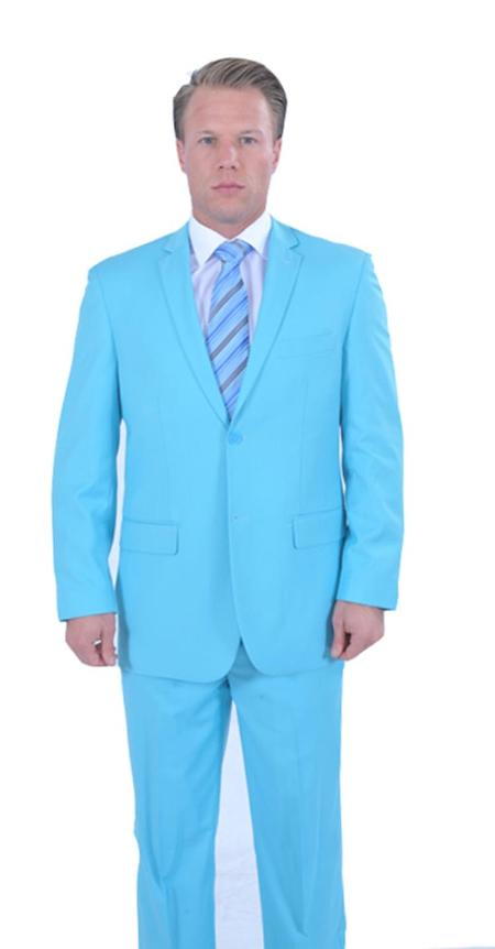 SNG423 2 Piece affordable suit Online Sale - Light Blue ~ Sky Blue