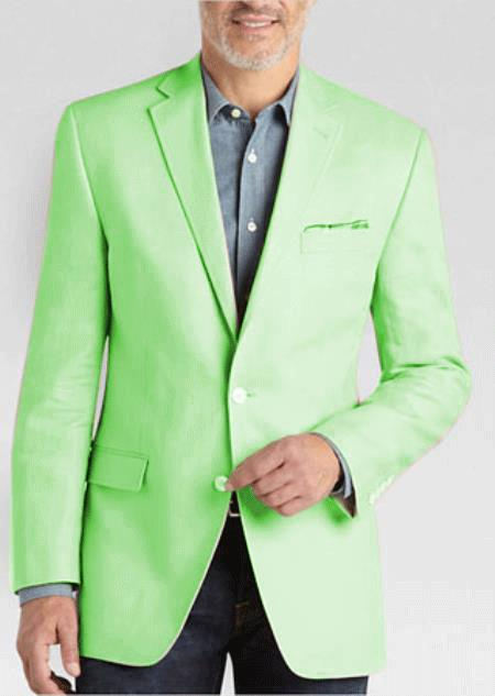 men's 2 Button Linen Classic Fit Sport Coat Tan Summer Blazer