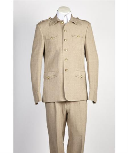 Mens Taupe 5 Button