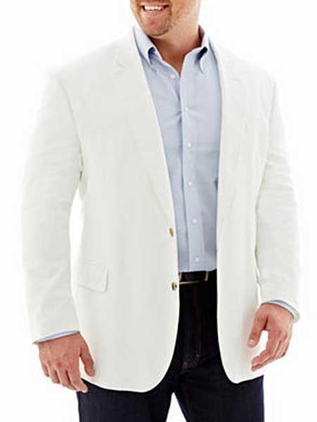 Mens White Cotton 2