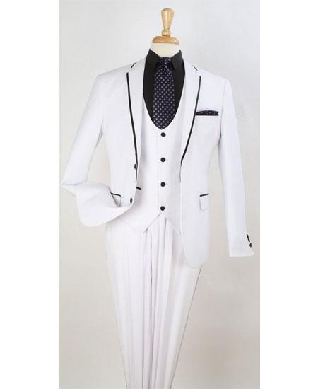 Mens White Two Toned