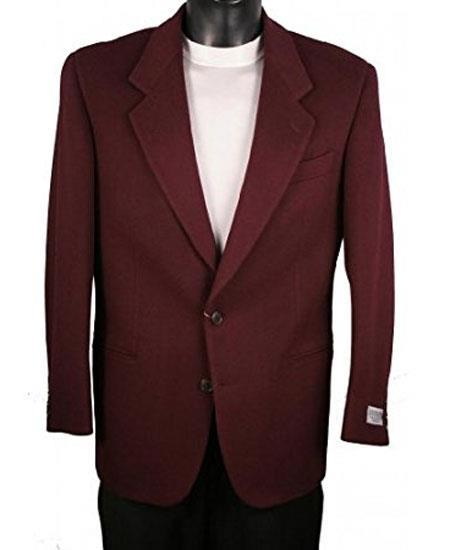 Mens Wine Notch Lapel