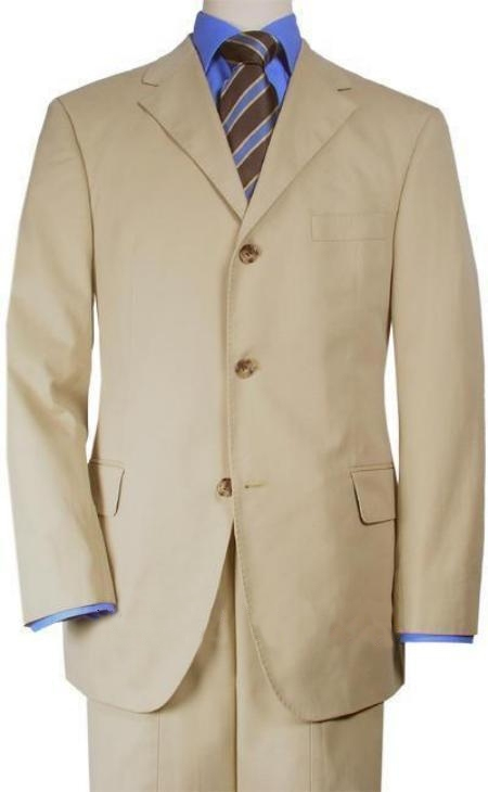 Beige/Beige Suits for Online XL Available in 2 Button Style Only for tall Vented