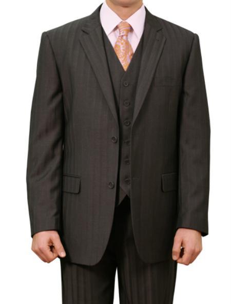 M136000 2 Button Style Front Closure Notch Lapel Suit