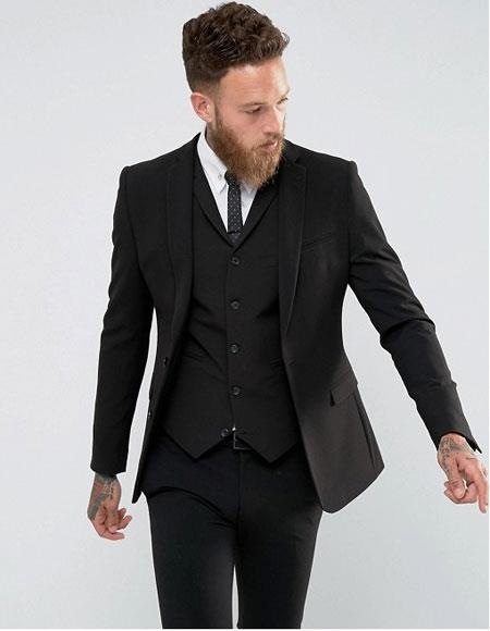 Mens Slim Fit Vested