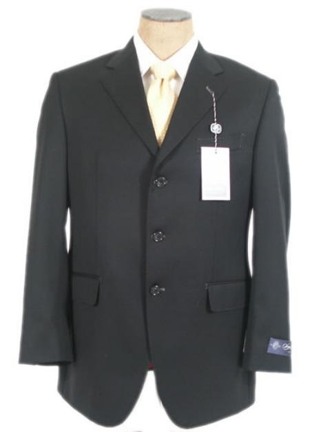 Liquid Jet Black Superior Fabric 140's Wool Fabric Suits for Online 3 Buttons Style