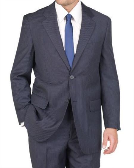2 Button Style Blue Stripe ~ Pinstripe Suit