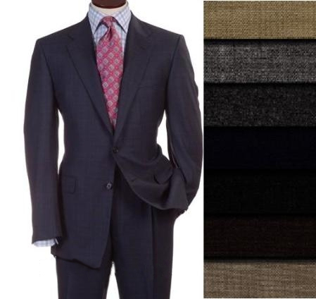 TWo 2 Buttons Style Superior Fabric Worsted Vergin Wool Fabric Business Suits for Online Comes in 10 colors