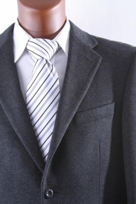 Product# 2PS-40912C Men's 2 Button Style Lamb Wool Fabric Cashmere Sport Coat Dark Grey Masculine color