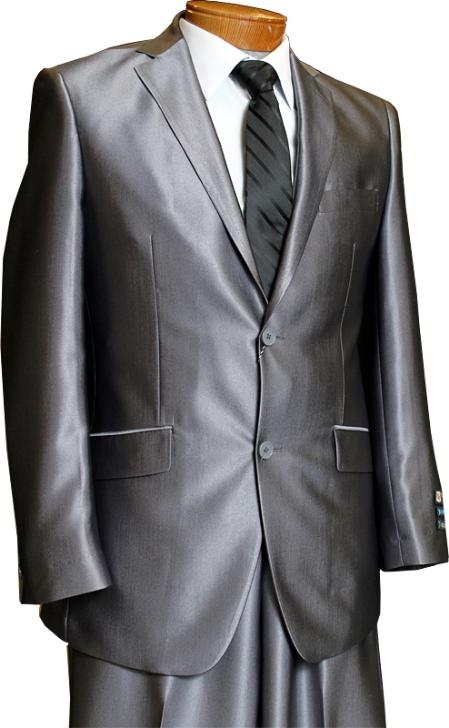 Three Buttons Charcoal Color Suit