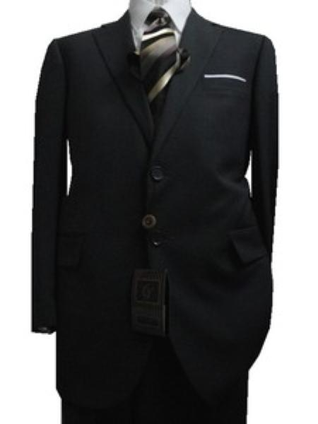 Product# GU1893 Fitted Discounted Online Sale Slim narrow Style Cut 2 Button Style Dark Grey Masculine color with Thin Light Gray Pinstripes Suit