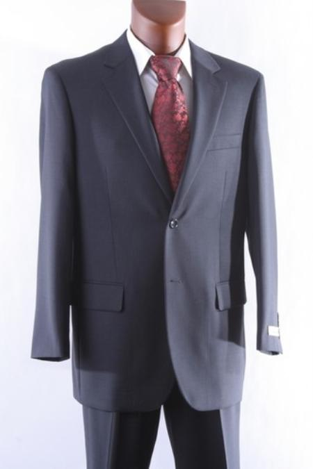 Two Buttons Charcoal Color Suit