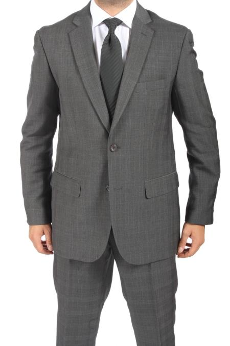 Two Buttons Charcoal Suit