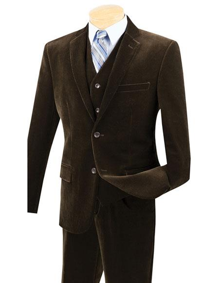 Mens Two Buttons Pinstripe
