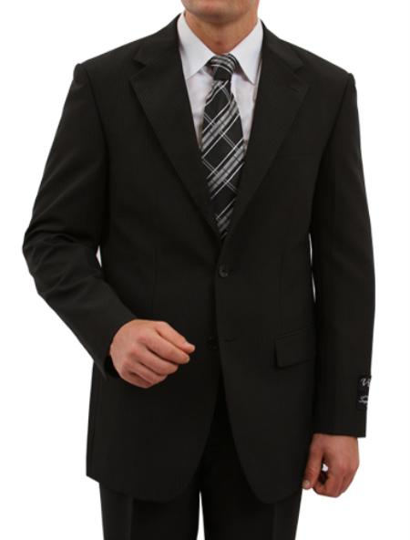 M162000 2 Button Style Front Closure Discounted Online Sale Fit Suit Liquid Jet Black