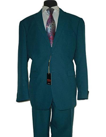 JSM-6053 Umberto Bonelli Mens Two Buttons Dark Teal 2-piece suit