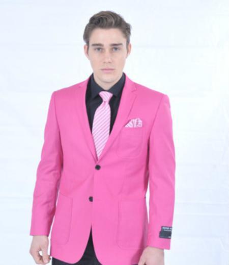 Fitted Premium Blazer Online Sale Fuschia