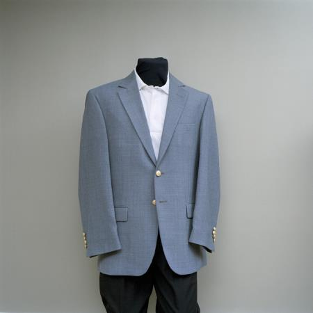Product# RJJ5 2 Button Style Blazer Online Sale Heather Grey with brass buttons sportcoat
