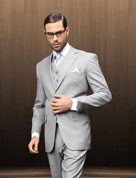 Button Style Vested Grey