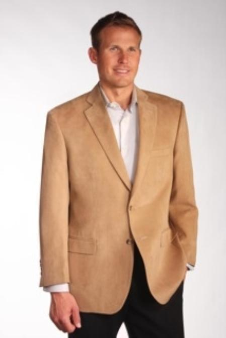 Product# CML1891 Two Discount Affordable 2 Button Style Camel ~ Khaki Wool Fabric ~ Cashmere Blazer Online Sale Sport coat Jacket