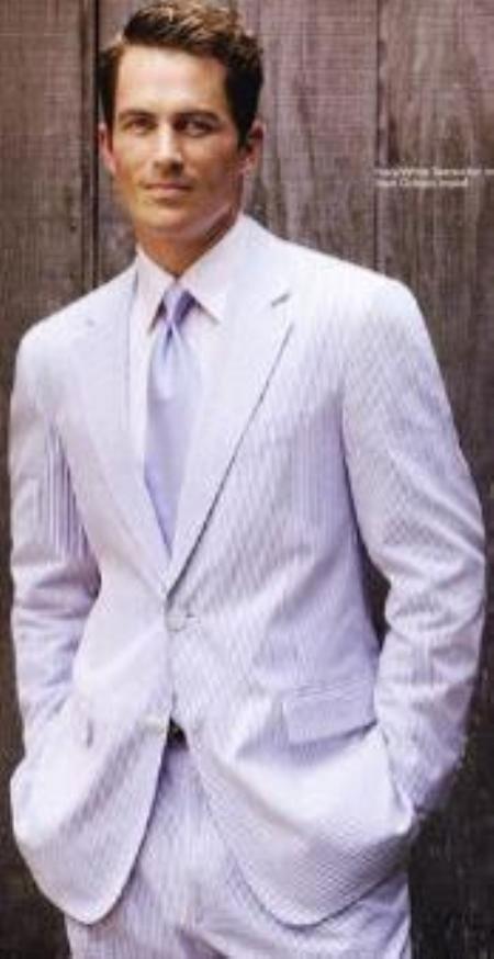 Product# JSM-4842 Alberto Nardoni Best Mens Italian Suits Brands Lavender Cheap priced Mens Seersucker Suit Sale Suits